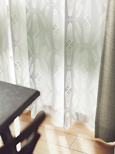 カーテン通販専門店cucan オーダーカーテン Ivana Helsinki イヴァナヘルシンキ 施工イメージ04