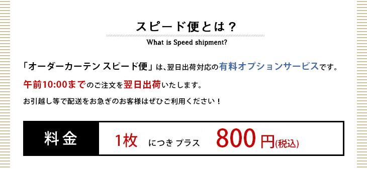 スピード便とは?