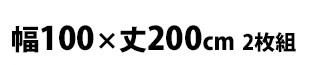 幅100×丈200cm 2枚組