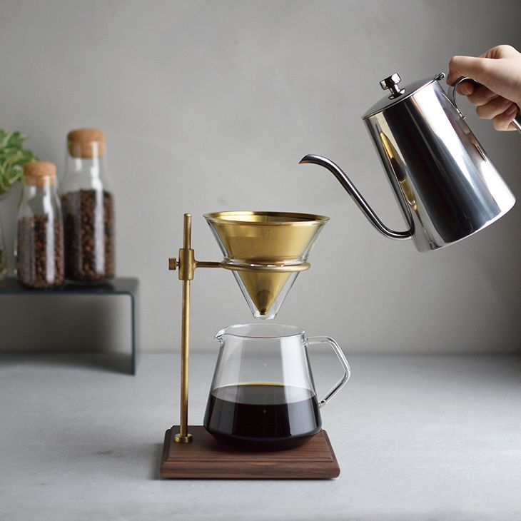 KINTO キントー ブリューワー スタンドセット 4cups SLOW COFFEE STYLE SPECIALTY 600ml 真鍮製(イメージ)
