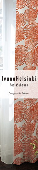 おしゃれな北欧ブランド「IvanaHelsinki/イヴァナヘルシンキ」 カーテン、ラグ、マットをラインナップ