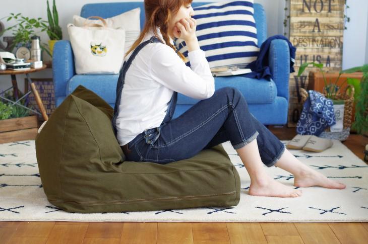 SIKAK SHP 座椅子ビーズクッション W60×H50cm×D70cm  キャッチ
